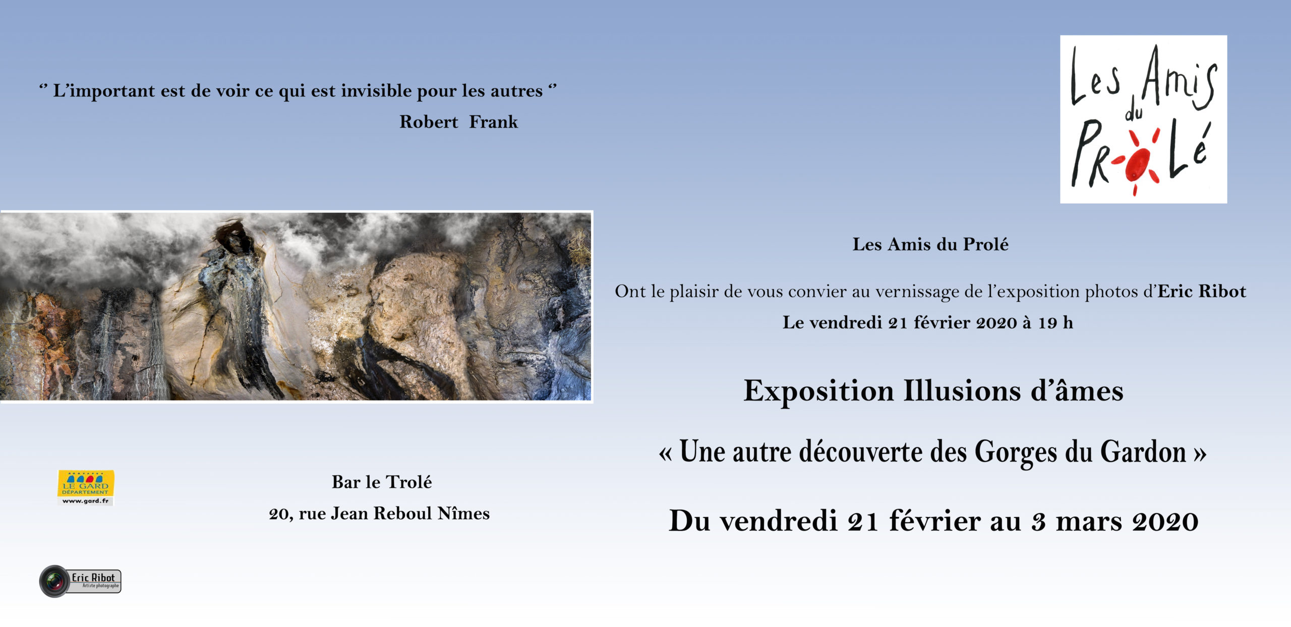 Invitation vernissage photo
